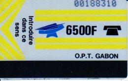 TELECARTE GABON OPT 6500 F