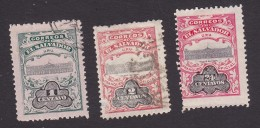 El Salvador, O273-O274, O280, Used/Mint Hinged, National Palace, Issued 1908 - El Salvador