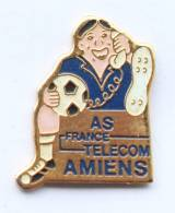 Pin's FRANCE TELECOM - AS AMIENS (80) - Footballeur Au Téléphone - MB -  F334 - France Telecom