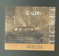 Biglietto Di Ingresso - Galleria Borbonica ( Napoli ) - Tickets - Entradas