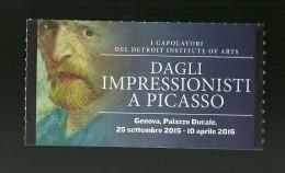 Biglietto Di Ingresso - Dagli Impressionsti...  (Genova ) - Tickets - Entradas
