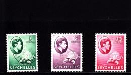 1938 - SEYCHELLES - O/FINE CANCELLED - TURTLE - SCHILDKRÖTE - Mi 122, 128, 134 - Seychellen (...-1976)