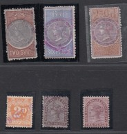 NOUVELLE GALLLES DU SUD:PETIT LOT DE TIMBRES FISCAUX,REVENUES. - Used Stamps