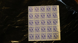 Germany A M G Issue 25pf Block Of 25 Probaby Type I Right 5 Damaged WYSIWYG MNH 1945-46 A04s - American,British And Russian Zone