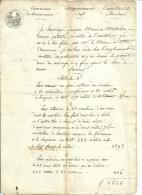 84 LOURMARIN APT VAUCLUSE DEVIS CIMETIERE PROTESTANT PROTESTANTS - Manuscripts
