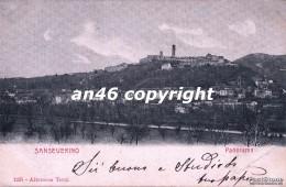 SANSEVERINO-PANORAMA-VIAGGIATA 1903 X FERRARA-OTTIMA CONSERVAZIONE-2 SCAN- - Macerata