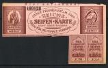 1920  Frankfurt /M. Seifen-Karte  Soap Ration Card  Rationnement Poudre De Savon - Historical Documents