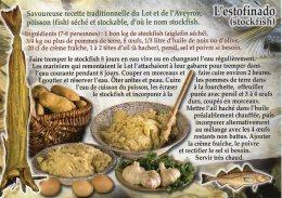 Recette Du Lot Et De L'Aveyron - L'estofinado (stockfish) - 02_RECET 9900-060 - Editions BLEU PASTEL - TBE - Recettes (cuisine)