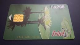 Sri Lanka-flowers-slt-(rs.200)-number Card-1113 02510 0106-used+1card Prepiad Free - Sri Lanka (Ceylon)
