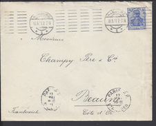 ALLEMAGNE - 1911 - ENVELOPPE DE HAMBURG A DESTINATION DE BEAUNE - COTE D'OR - FR - - Germany