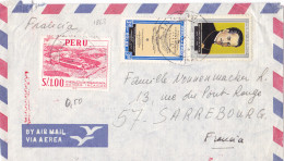 1868# PEROU LETTRE PAR AVION Obl LIMA 1969 PERU Pour SARREBOURG MOSELLE LORRAINE - Pérou