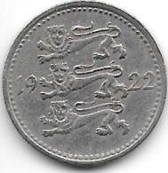 *Estonia  3 Marka 1922 Km 2    Xf  Catalog Val 15,00$ - Estonie