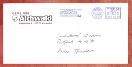 Brief, Pitney Bowes E681816, Gemeinde Aichwald, 55 C, 2004 (30245) - [7] République Fédérale