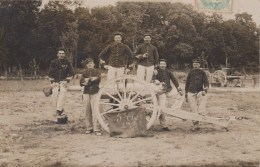 CARTE PHOTO NON SITUEE - GROUPE De Militaires - 5ème Régiment D´Artillerie - 4ème Batterie - Canon - Postkaarten