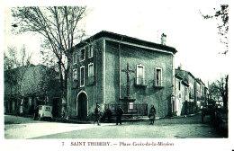 34 / SAINT THIBERY / PLACE CROIX DE LA MISSION / VOITURE / CIRC 1933 - Unclassified
