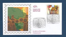 Env Fdc 17/3/2001 Paris, N°3376 Y Et T, Le Siècle Au Fil Du Timbre, Communication, Le Disque Compact, Cors De Chasse à C - FDC