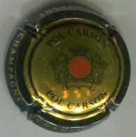CAPSULE-CHAMPAGNE POL CARSON N°02 Or Contour Noir Verso Métal - Sonstige