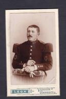 Photo Originale Cdv Militaria Portrait Militaire 155 155è Regiment Infanterie Photo Leon Verdun Sur Meuse Commercy - Oorlog, Militair