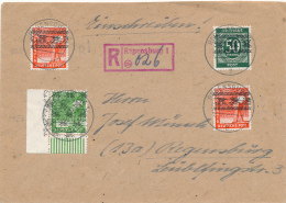 REGENSBURG - 30.7.1948 , R-Brief Nach Regensburg - Zona AAS