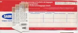 Ticket/Billet D'Avion. SABENA. Beirut/Bruxelles/Beirut. 1981. - World