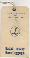 Etiquette De Bagage/Handluggage. LOT. Polish Airlines. 1974 ! - Baggage Etiketten
