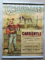 AFFICHE En TOLE CARBONYLE  ENDUIT BONHOMME CLOTURES - Marque