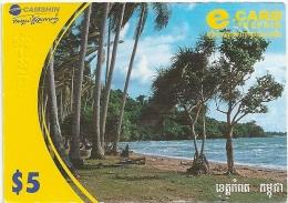 Cambodia - Camshin - Cambodian Landscape - Remote. Mem 5$, (Big Size) Exp. 31.12.2007, Used - Cambodia