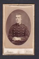 Photo Originale Cdv Militaria Portrait Militaire 5 5è Regiment (d´ Artillerie ?) Photo Laveuve Verdun - War, Military