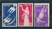 Israel 1951. Yvert 50-52 ** MNH. - Israel