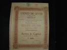 """Action """"Usines De Gives""""Bruxelles 1922 Reste Tous Les Coupons. - Industrie"""