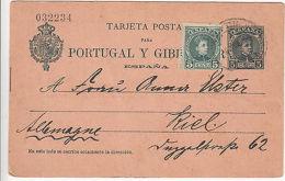 Spain: Postcard To Vigo To Kiel, Germany, 23 July 1903 - Unclassified