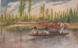 Mexico Xochimilco Canal Scene