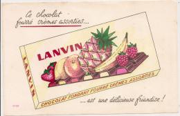 BUVARD CHOCOLAT  LANVIN - Chocolade En Cacao