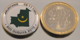 Mauritanie 2015 Bimetal Couleurs Drapeau - Mauritania