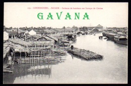 COCHINCHINE - SAIGON - Radeaux De Bambous Sur L'arroyo De Cholon - Vietnam