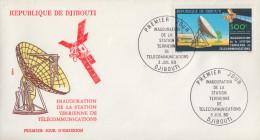 Enveloppe  FDC  1er  Jour    REPUBLIQUE   De   DJIBOUTI    Station   De  Télécommunications    1980 - Djibouti (1977-...)