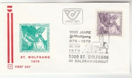 1974 St Wolfgang AUSTRIA FDC ST WOLFGANG Stamps  SPECIAL Pmk Illus CHURCH Cover Religion - Christianity