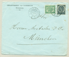 Nederlands Indië - 1911 - GR BUITENZORG Op Cover Met Mengfrankering Naar München / Germany - Nederlands-Indië