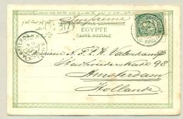 Nederlands Indië - 1905 - GR Postagent Amsterdam-Batavia Op Ansicht Naar Amsterdam - Nederlands-Indië