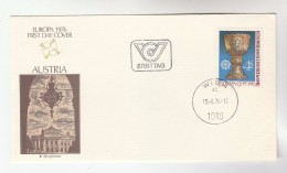 1974 AUSTRIA FDC EUROPA Stamps Cover Illus BURGTHEATER Theatre - FDC