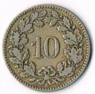 Switzerland 1880 10c - Switzerland
