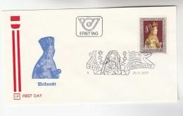 1977 AUSTRIA FDC CHRISTKINDL Stamps SPECIAL Pmk  Cover Christmas Religion - FDC