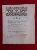 LOI CONTENANT ARTICLES ADDITIONNELS AU DECRET  1791