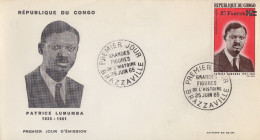 Enveloppe  FDC  1er  Jour   CONGO    Patrice  LUMUMBA   1965 - FDC