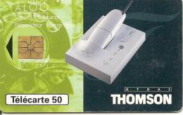 CARTE°-PUCE-PRIVEE-PUBLIC- 50U-EN1450-GEMA-02/96-THOMPSON REPONDEUR-UTILISE-BE Bordures Un Peu Blanche- - 50 Einheiten