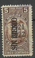 ECUADOR 1920/22 Revenue Tax OPT O - Ecuador
