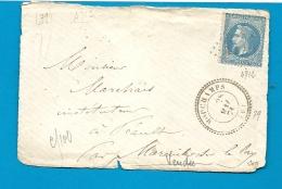 Vendée - MOUCHAMPS Pour MAREUIL S LAY. GC + CàD Perlé Type 24 - Marcophilie (Lettres)