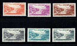 1948   Village Libanais  Poste Aérienn Série Complète   *  MH - Liban