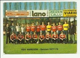 Waregem Voetbal Ploeg  Seizoen 1977 / 1978 - Waregem