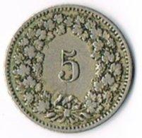 Switzerland 1884 5c - Switzerland